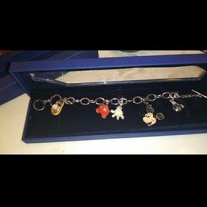 Rare swarovski Mickey mouse bracelet with 5 charms
